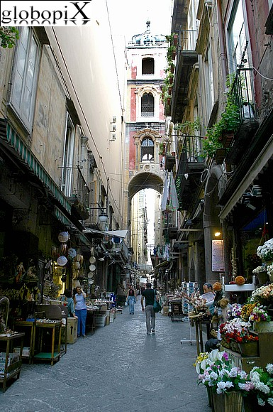 Naples - Napoli's historical centre.