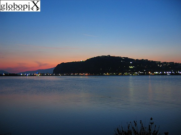 Campi Flegrei - Panorama of Lago di Miseno at night