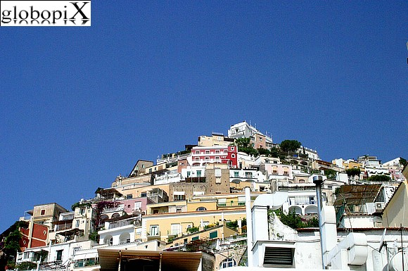 Positano - Positano seen from the beach