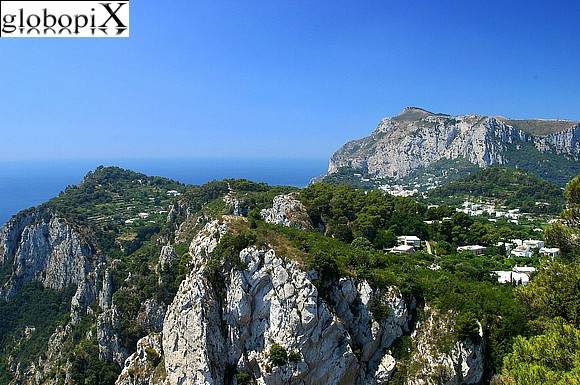 Capri - Sea cliffs.
