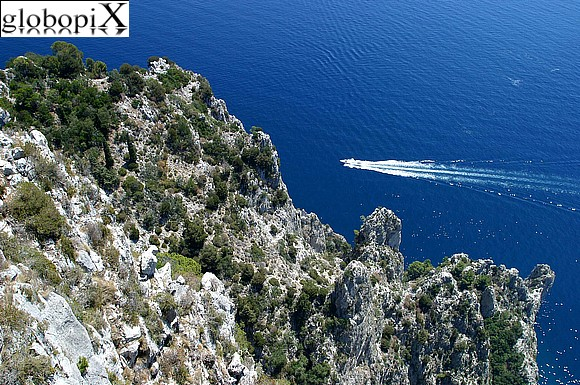 Capri - The sea cliffs