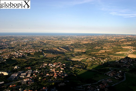 San Marino - Panorama from the Rocca