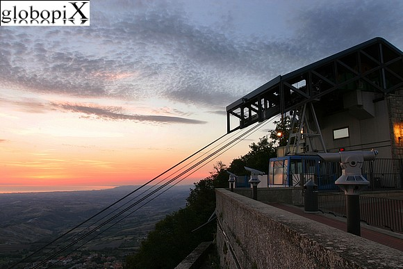 San Marino - The cableway
