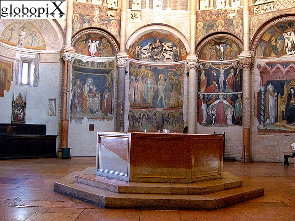 Parma - The interior of the Battistero