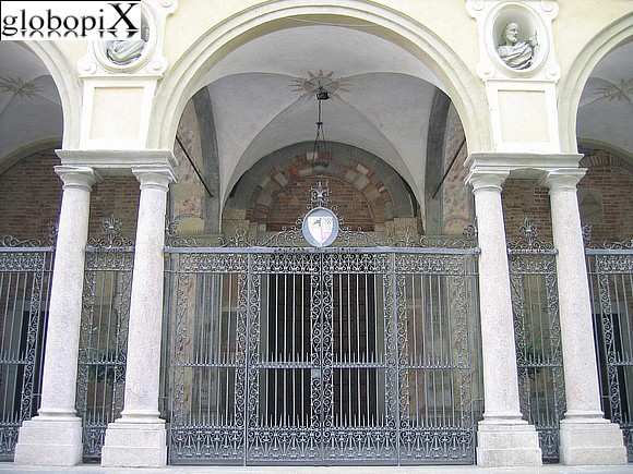 Piacenza - The portals of Chiesa di San Sisto