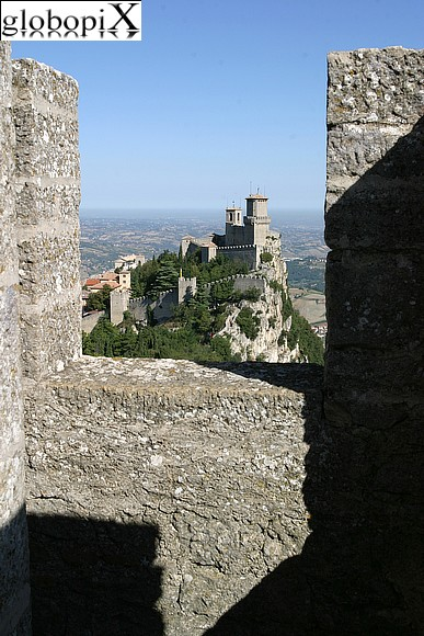 San Marino - View from 'La Cesta' towards the Rocca