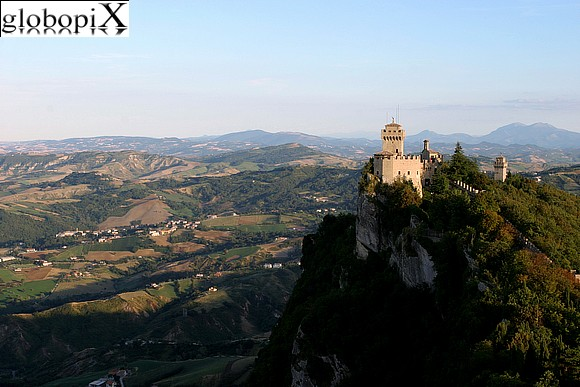 San Marino - View from the Rocca towards the Cesta