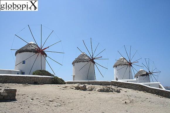 Photo Mykonos Chora Mulini A Vento Globopix