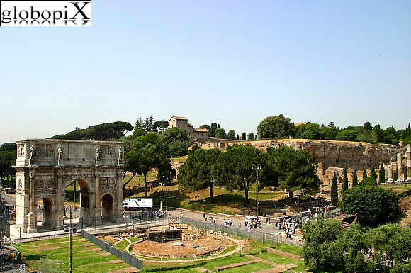 Rome - Arco di Costantino and Foro Romano