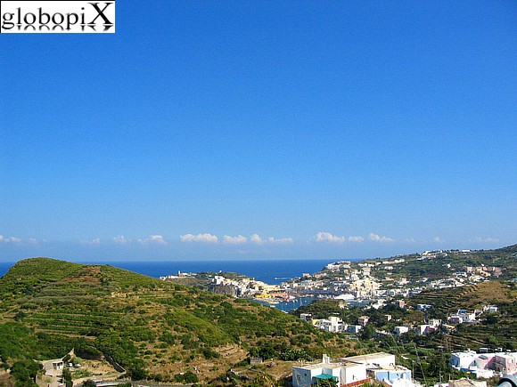 Ponza and Ventotene - Panorama of Ponza