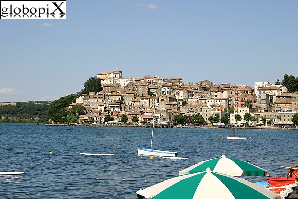 Lago di Bracciano - Panoramique view of Anguillara