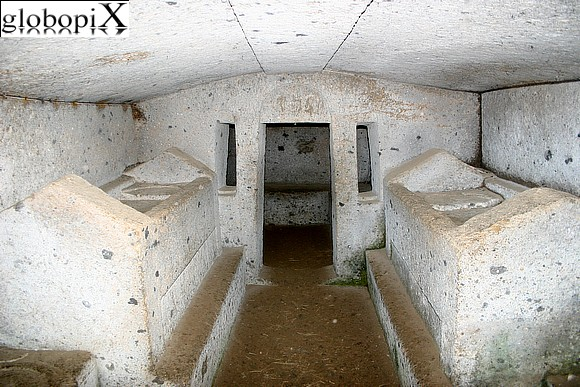 Cerveteri - Tomb of the beds and sarcophagi