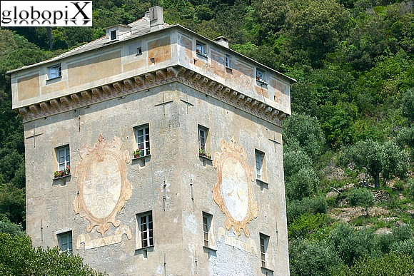 Portofino - The Doria tower at San Fruttuoso
