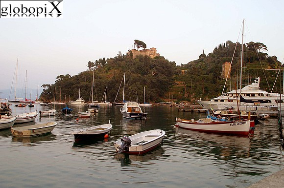 Portofino - The port and Castello di San Giorgio