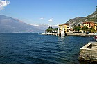Photo: Panorama of Lake Como at night.