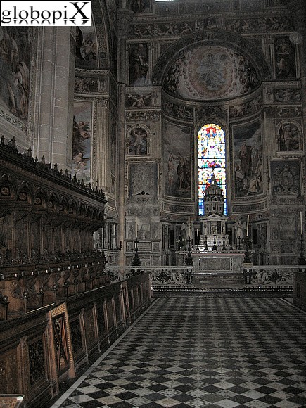 Pavia - The choir of Pavia's Certosa