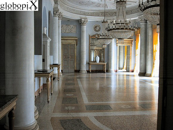 Varese - The Imperial style hall of Villa Panza