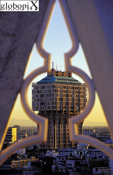 Milan - Torre Velasca from the Duomo