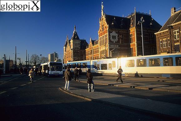 Foto amsterdam stazione centrale globopix for Hotel amsterdam stazione