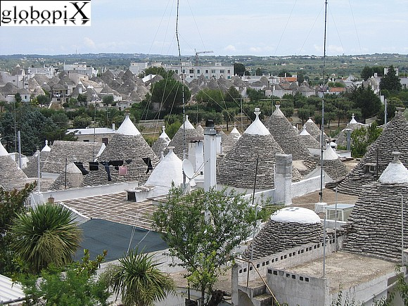 Alberobello - Panoramic view of Alberobello