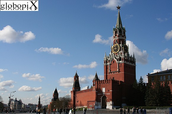 Moscow - Red Square - Kremlin Spasskaya Tower