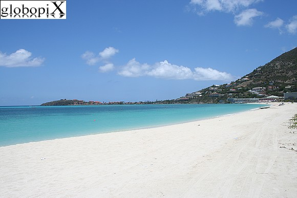 Saint Martin - Beach at Philipsburg