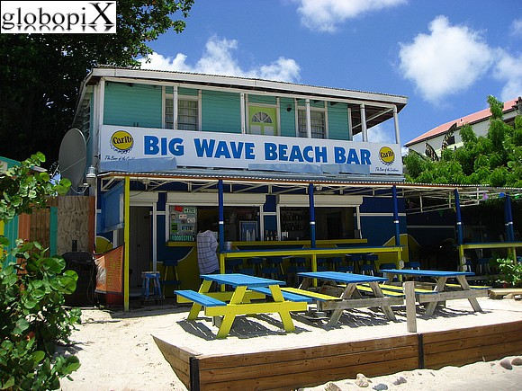 Saint Martin - Beach bar at Philipsburg