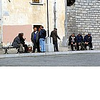 Photo: People on Piazza Risorgimento in Arzachena