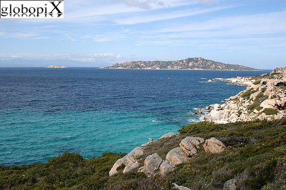 La Maddalena - Panorama of the Maddalena from Punta Sardegna