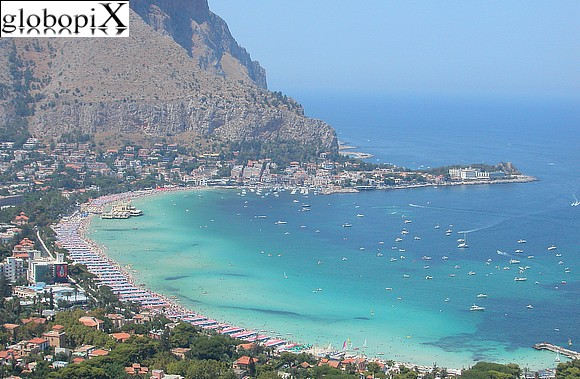 Palermo - Panorama of Baia di Mondello