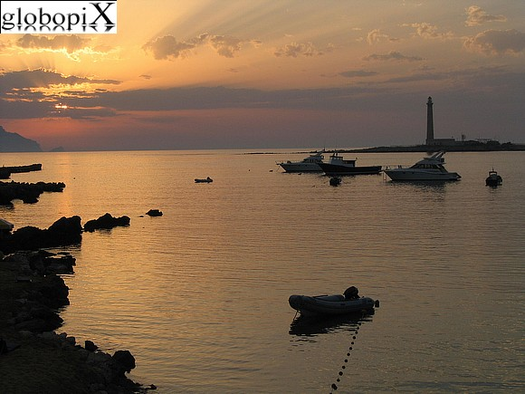 Isole Egadi - The lighthouse of Punta Sottile at sunset.