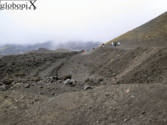Etna - The path towards the Etna cableway.