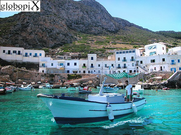 Isole Egadi - Village of Levanzo and Pizzo del Monaco