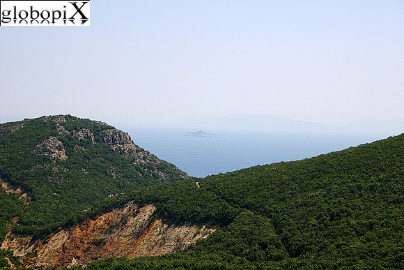 Isola d'Elba - Panorama of the mountains