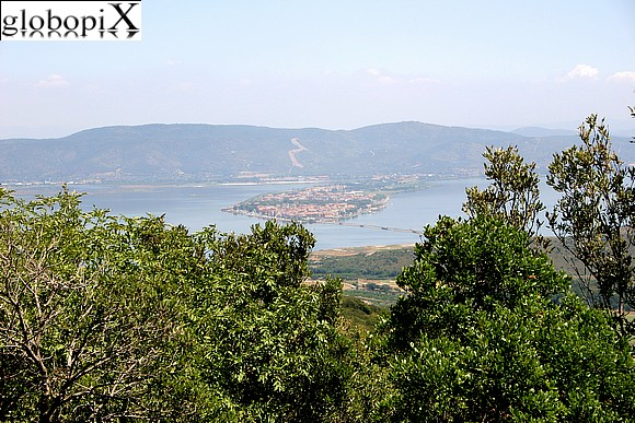 Argentario - Panorama of the Orbetello peninsula