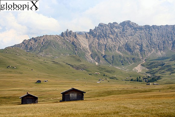 Dolomiti - Alpe di Siusi and Peak of Terrarossa