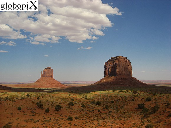 Monument Valley - East Mitten e Merrick Butte