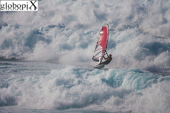 Isole Hawaii - Windsurf a Hookipa Beach