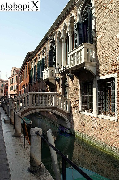 Venice - Canal flowing along the Arsenale