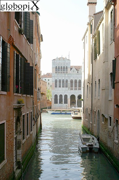 Venice - Glimpse of the canals between the calli.